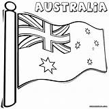 Flag Coloring Australian Australia Pages Colors Popular Colorings sketch template