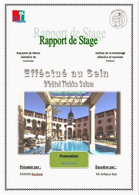 rapport de stage cuisine collective rapport de stage hotoliere rapport de stage itht