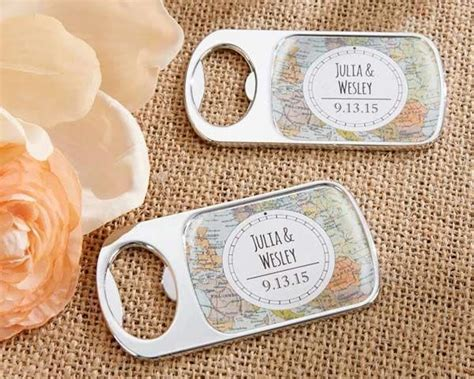 personalized travel adventure silver bottle opener
