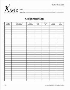 assignment log for students custom writing website With avid learning log template