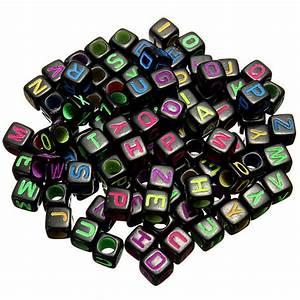 100pcs loom rubber band letter alphabet beads diy craft for Letter beads in bulk