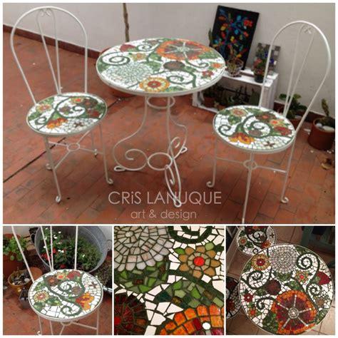 juego de mesa  sillas de hierro blanco  exterior