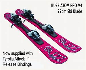 Buzz Atom PRO V2 LIPSTICK PINK 99cms Snow Blade Ski with ...
