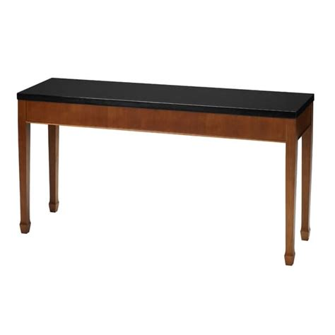 mayline midnight series black granite top sofa table