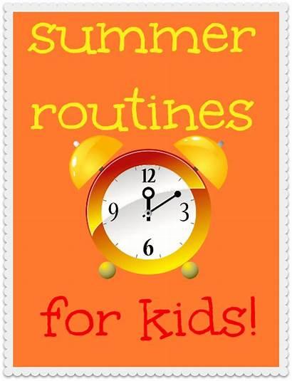 Summer Routines Orgjunkie Routine Schedule Homework Children
