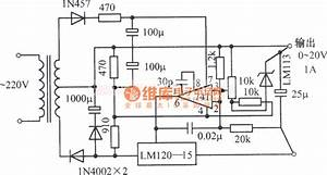 0 To 20v 1a Adjustable Regulated Power Supply Circuit Diagram