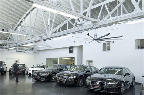 Quiet Commercial Ceiling Fans For Auto Dealerships From