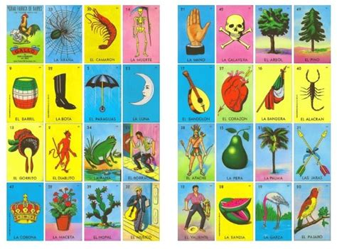 100 cartas de loteria mexicana listas p imprimir c dobles 140 00 en mercado libre
