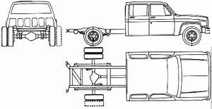 1990 Chevrolet R3500 Chassis Cab Pickup Truck Blueprints