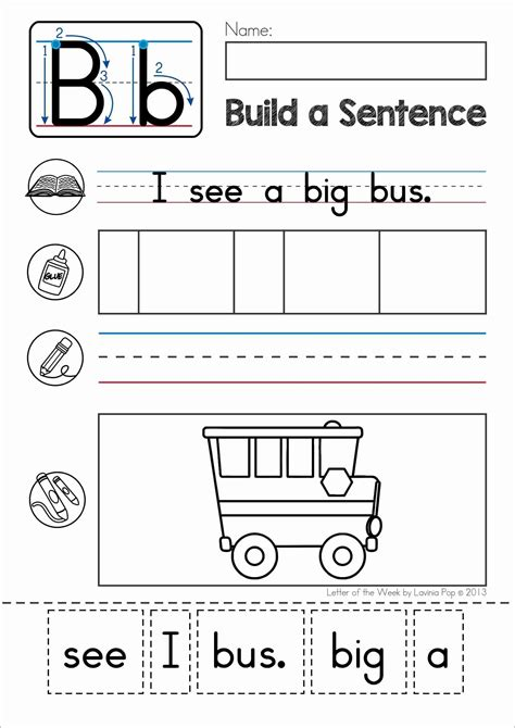 phonics letter of the week b build a sentence cut and 881 | d952704ae5bdfbb599b214d0081ef9be