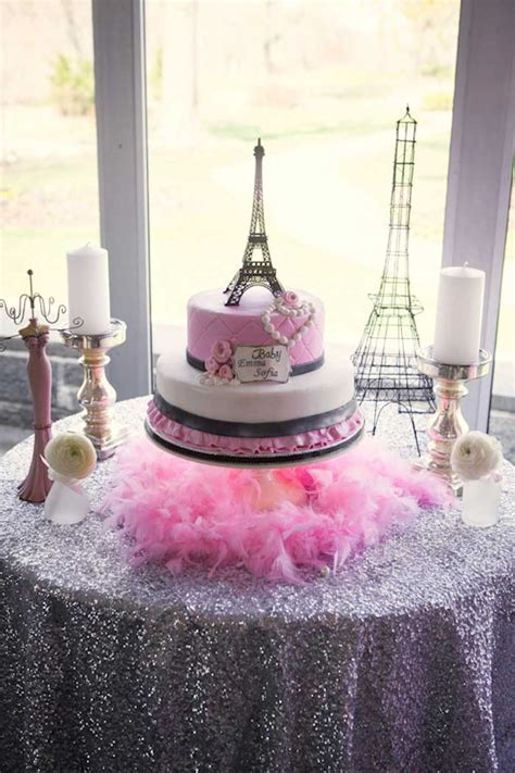 Kara's Party Ideas Pink Paris Themed Baby Shower Via Kara
