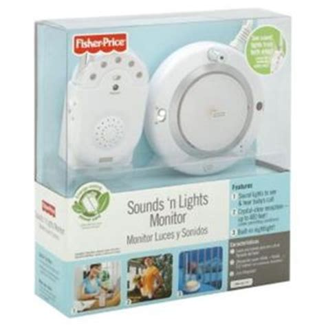 fisher price sound and lights baby fisher price single sound n lights monitor