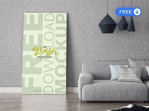 The best poster mockup allows you to display your artwork inside a frame in a stylish way. Floor Poster In Living Room Free Mockup | Free PSD - Get Mockups