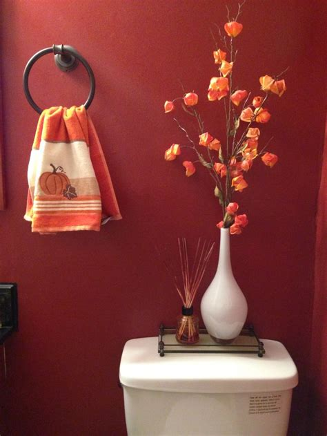 bathroom toilet decor   fall season bathrooms