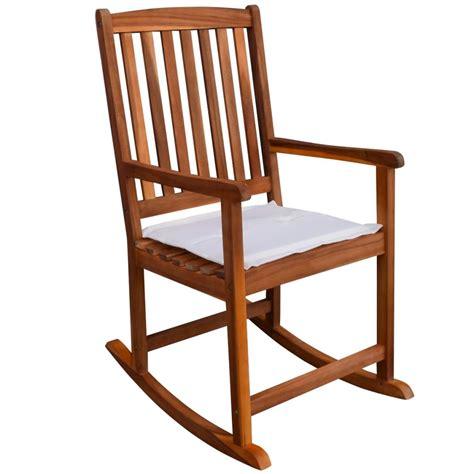 chaise à bascule pas cher acheter vidaxl chaise à bascule pour jardin en acacia
