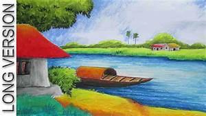 Pastel Painting | Oil Pastel Landscape Drawing Tutorial ...