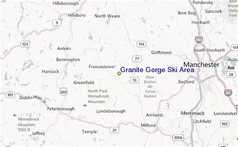 granite gorge ski area ski resort guide location map