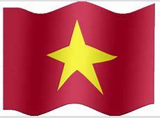 Animated Vietnam flag SRV flag Country flag of