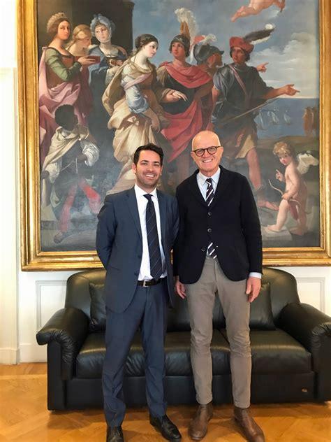 presidenza consiglio dei ministri roma in visita all aeci il capo ufficio per lo sport della