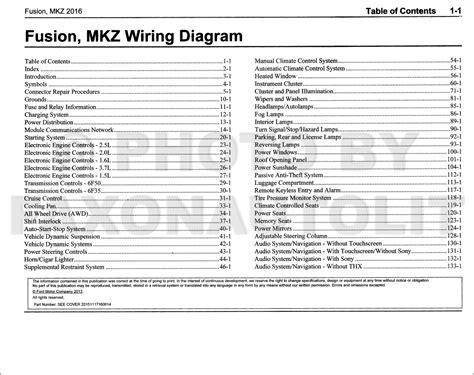 Ford Fusion Lincoln Mkz Wiring Diagram Manual Original