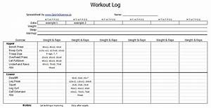 free workout log template sports science co With fitness program template free download