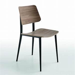 Chaise Scandinave Pied Metal : chaise scandinave midj noyer pieds m tal noir sur cdc design ~ Teatrodelosmanantiales.com Idées de Décoration