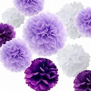 Papier De Soie Blanc : lot de 18 mixte violet lavande blanc bricolage papier de ~ Farleysfitness.com Idées de Décoration