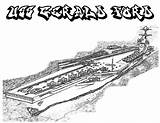 Coloring Carrier Aircraft Pages Uss Ship Ford Enterprise Coloringsky Maersk Cvn sketch template