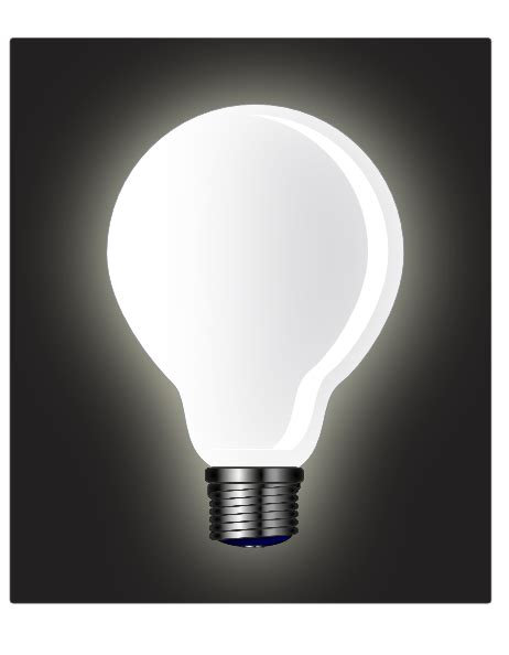 white light bulb clip at clker vector clip