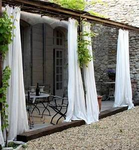 Outdoor curtains for porch and patio designs 22 summer for Outdoor patio curtains ideas