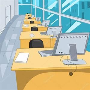 Fondo de dibujos animados de lugar de trabajo en oficina Foto de stock © rastudio #129370534