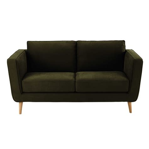 canapé 2 places en tissu canapé 2 3 places en tissu kendo kaki nils maisons du monde