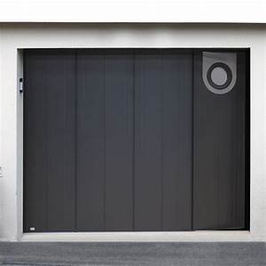 porte de garage sectionnelle residence performance With porte de garage enroulable avec porte pvc gris anthracite
