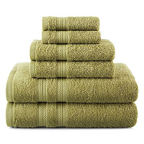 Jcpenney Bathroom Towel Sets home expressions 6 pc solid bath towel set jcpenney