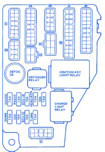 toyota celica gt s 22re 1985 fuse box block circuit breaker diagram 187 carfusebox
