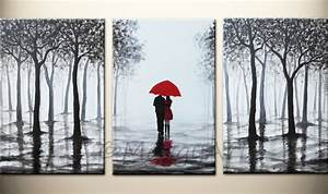 wall art red umbrella large abstract paintingoriginal With kitchen colors with white cabinets with red umbrella canvas wall art