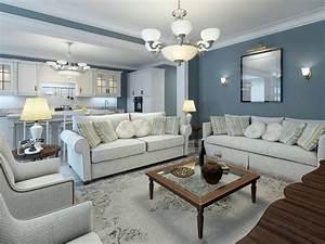 Wohnzimmer Gemütlich Gestalten : wohnzimmer farblich gestalten 71 wohnideen mit der farbe blau ~ Lizthompson.info Haus und Dekorationen