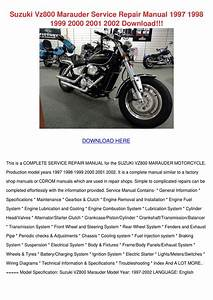 Suzuki Vz800 Marauder Service Repair Manual 1 By Lukelyles