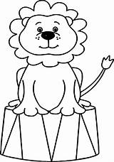 Circus Coloring Pages Animals Lion Drawing Elephant Sheets Ringmaster Tent Animal Printable Bubble Print Guppies Adult Cartoon Draw Preschool Clipartmag sketch template