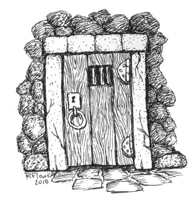dungeon door clipart wbg  rflowers  deviantart