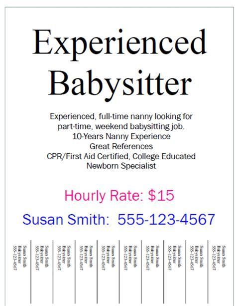 nanny or babysitting