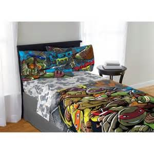 teenage mutant ninja turtle cross hatching bedding sheet