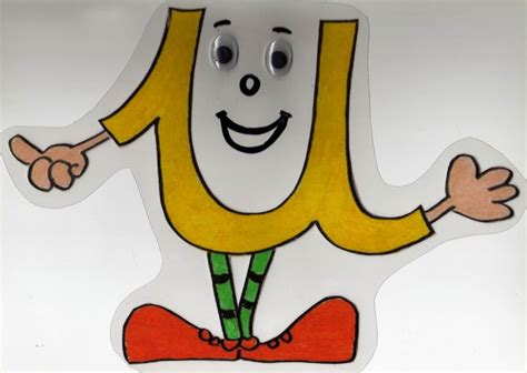 vocal u min 250 scula personaje de caricatura colores rojo amarillo verde vocal u