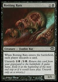 Rat Deck Mtg Tcgplayer by Rotting Rats Creature Cards Mtg Salvation