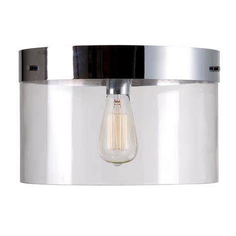kenroy home capri 1 light chrome flush 91837clr