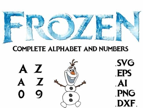 Free do not give up svg file. Disney Frozen font Alphabet and numbers in svg,ai,eps,dxf ...