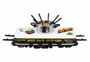 Raclette Und Fondue Set : rtc raclette fondue set 12 pers inkl hei er stein ~ Michelbontemps.com Haus und Dekorationen