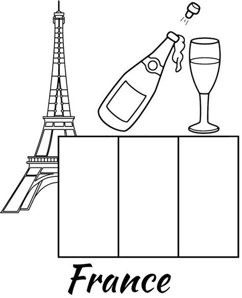 france flag coloring sheet  print   champagne