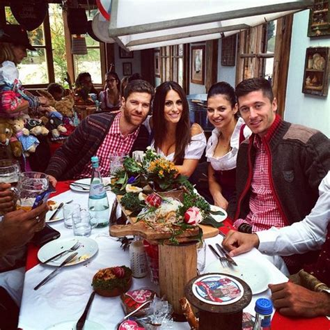 WAGs & Beer! Bayern Munich Stars & Their Wives Celebrate ...