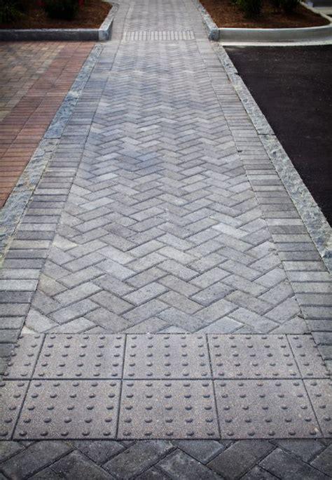 herringbone crosswalk concrete patio walkway design